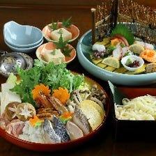 『得々寄せ鍋コース/平日月~木限定』新鮮な海の幸と魚介の凝縮した旨味を味わう!お得な鍋コース