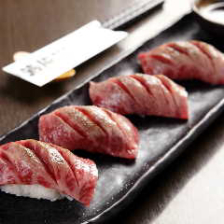 A5ランク 山形牛炙り寿司