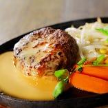 ハンバーグステーキ(牛豚合挽)