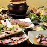 宴会コースもございます。創作手作り料理をお出しいたします