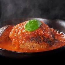 肉汁溢れるハンバーグ「鉄板ランチ」
