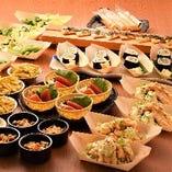 箸をつつくことなく取分けできる個食盛り対応コースもご用意!