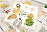 9マスのお皿に綺麗に盛り付け召し上がれ!