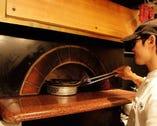 500℃の高熱で旬の素材を一気に焼いちゃいます
