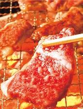 極上の霜降り肉を七輪で
