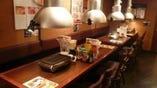 奥のテーブル席もまとまれば20名様までの個室として利用可能!!