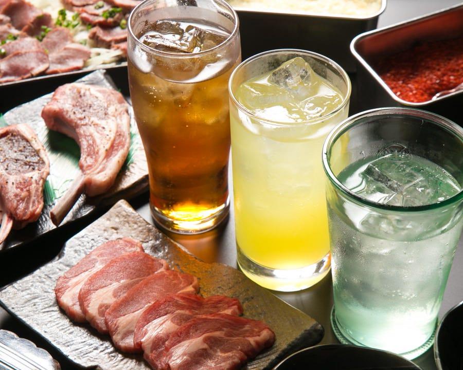 ドリンクは嬉しい低価格♪お酒と 料理を心ゆくまで楽しめます!