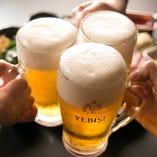 旨い肉と旨いビールで乾杯!