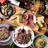 メルカド名物のお肉料理をたっぷり楽しめる「満足!お肉コース」
