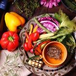 フレッシュ野菜を使った逸品を多数ご用意!