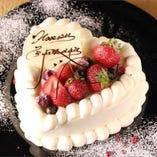 ご要望に応じてホールケーキもご用意いたします。※5号サイズ2,500円~。