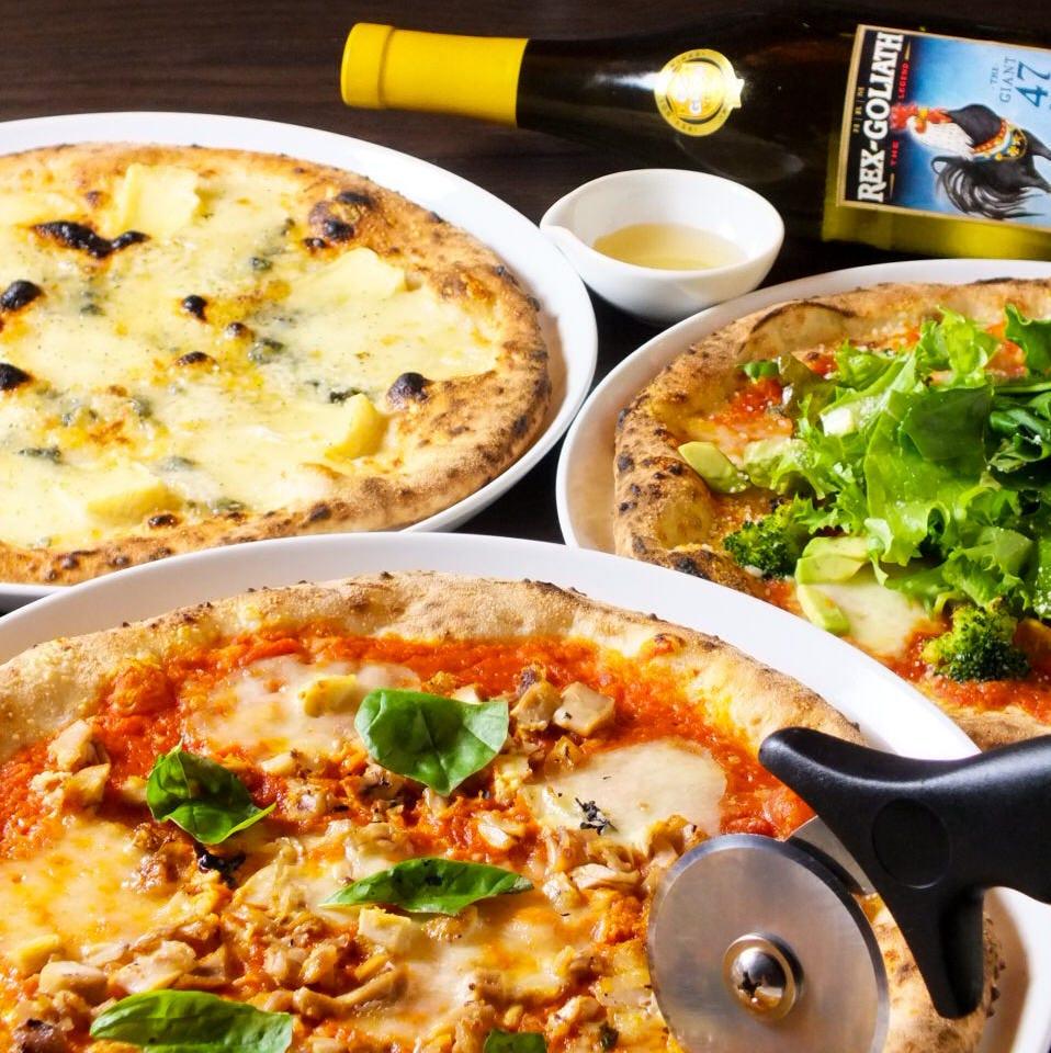 自慢のpizza&ラクレットチーズ!