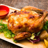ひな鶏のロティサリーチキン