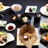 【懐石料理】 旬の食材を活かしたコースを多数ご用意しました