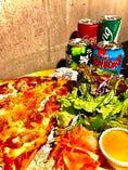 ジャンボサイズ!『カットスライスピザセット』