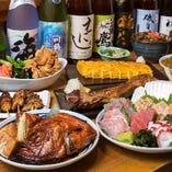 旬鮮や煮付け焼き物、定番物まで、旬の酒の肴が豊富。