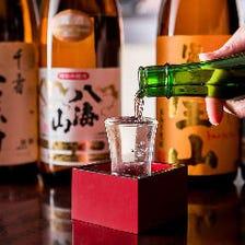 厳選した日本酒・焼酎をご堪能下さい