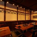 昭和レトロな店内でゆっくりお食事をお楽しみ下さい!