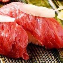 馬肉 赤身肉握り寿司 5貫