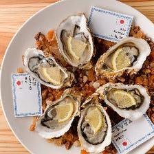 フレッシュな国産生牡蠣を存分に堪能