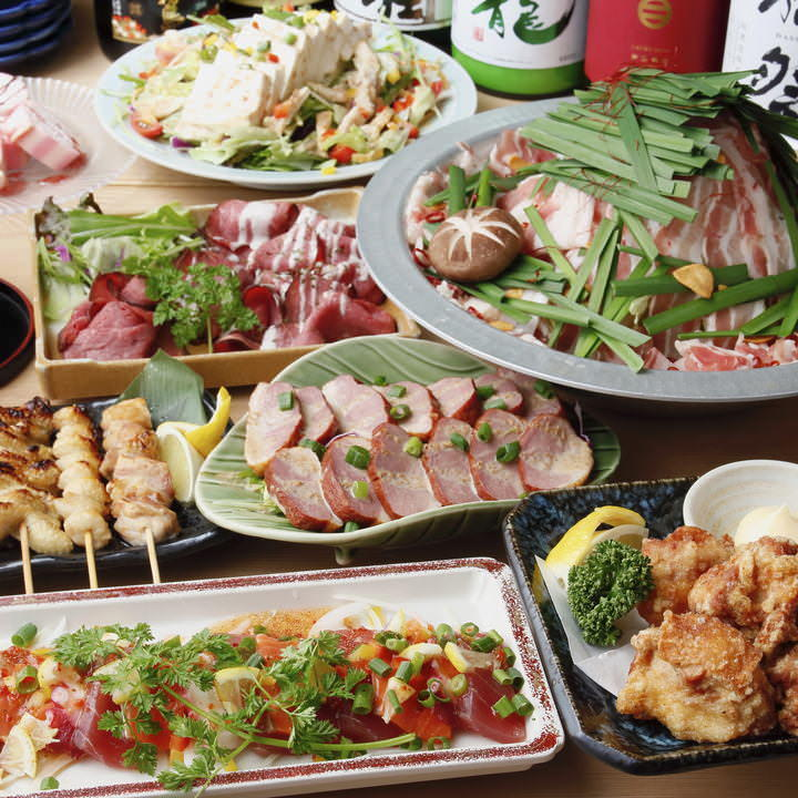 ローストビーフ&唐揚げ&串焼きが食べ放題!【満足コース】3H飲み放題付 全9品 3850円