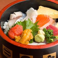 鮮魚の宝石箱レインボー丼