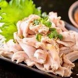 茹でガツ刺(ごま油&辛味噌)