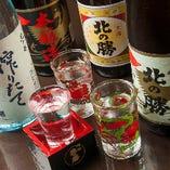 宴会コースにプラス500円で地酒が飲めるプレミアム飲み放題へ