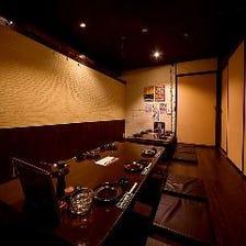 【個室】完全個室、半個室は予約必須