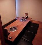 ご家族でのご予約に最適な掘りごたつ式個室!6名~最大8名様専用です。