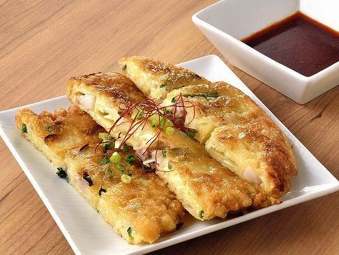 絶品ネギ豚チヂミ 手作りの味わいをお楽しみ頂けます。