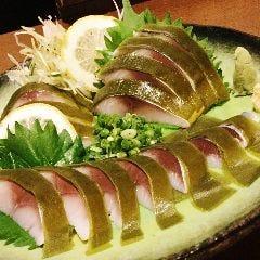 青森県産 しめ鯖の昆布〆