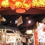 昭和初期のレトロな街並みを再現した館内
