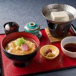 湯葉丼 湯豆腐付き