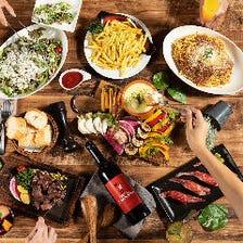 【女子会コース】ステーキとチーズフォンデュを満喫!肉寿司とチーズたっぷりサラダも◎全7品&飲み放題