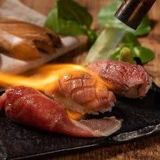 話題沸騰☆肉寿司は199円税抜~