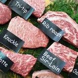 【国産黒毛牛】 一頭買いなので12種のステーキが食べられる!
