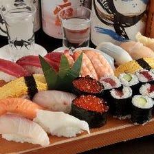 1貫からOK!採れたての鮮魚を寿司で
