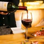 リーズナブルなワインからプレミアムなワインまで幅広くご用意