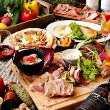 総重量1.5キロの肉盛りが付いた!!肉盛り×チーズコース〈全10品〉3,000円|宴会・歓迎会・飲み会
