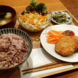 国産大豆のお豆腐と人参のナゲットプレート