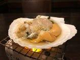 貝焼き・七輪炙り焼きも人気です