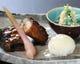 子持ち鮎甘露煮、鯛手毬寿司、牡蠣セリ白和え
