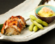 鰻寿司、焼き茄子、枝豆