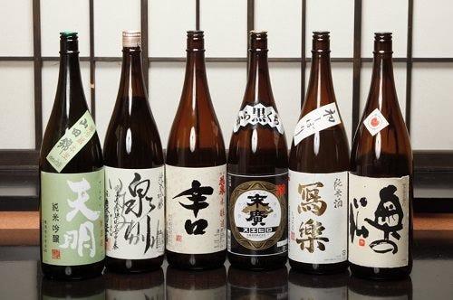 福島の日本酒を中心としたこだわりのラインナップ