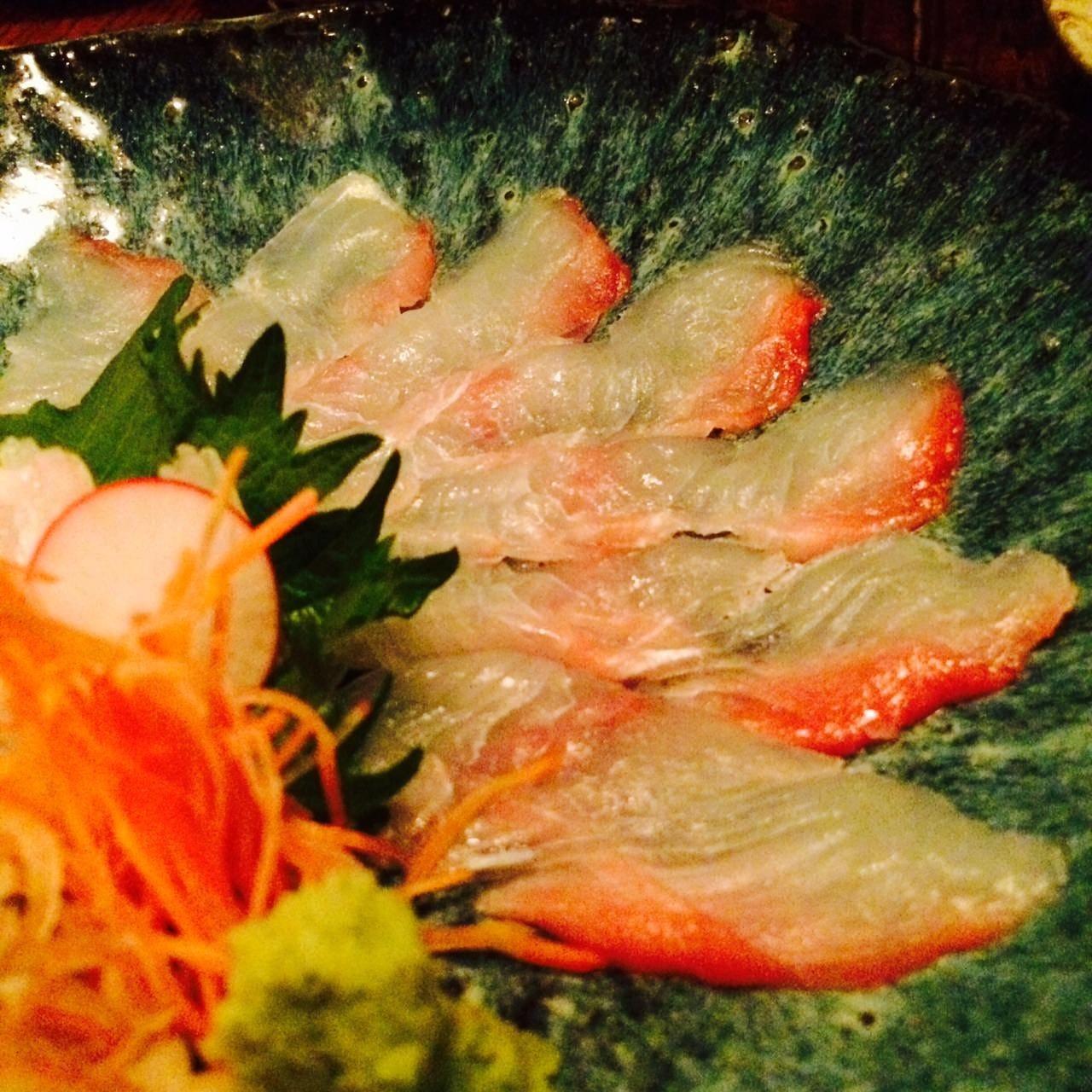 旬の鮮魚を季節限定で