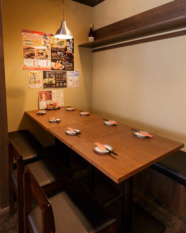 テーブル席・2名様~16名様