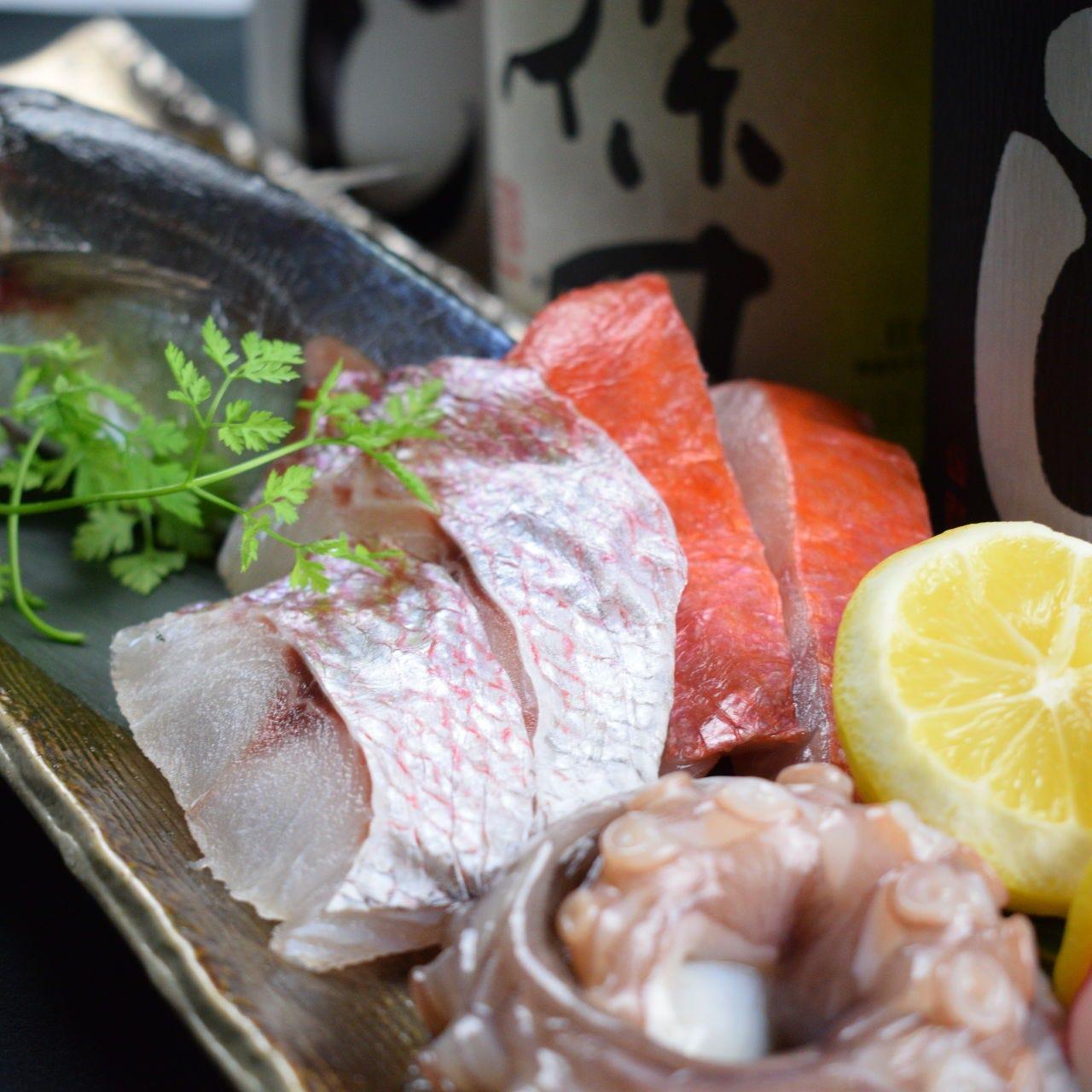 七輪で愉しむ~鮮魚×熟成肉~