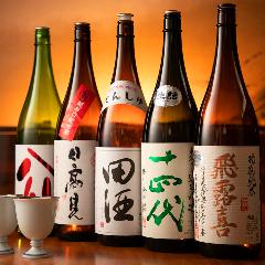 日本各地から取り寄せた銘酒を堪能!