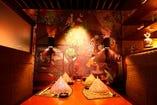 タイの伝統的なアートを配したお部屋(4名様)